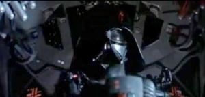 Vader and the TIE fighters are about to attack Luke...WHATEVER WILL WE DO? End Act 2, of course.