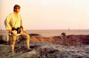 In Star Wars, Act 1 ends when Luke decides to leave Tatooine.